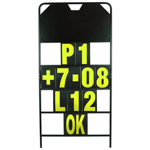 Aluminium Racing Pit Board Frame With Numbers