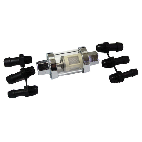 Glass Fuel Filter With Adaptors