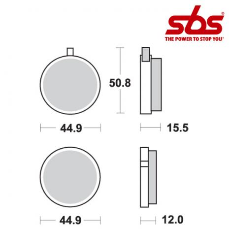 SBS 500 Brake Pad Kit