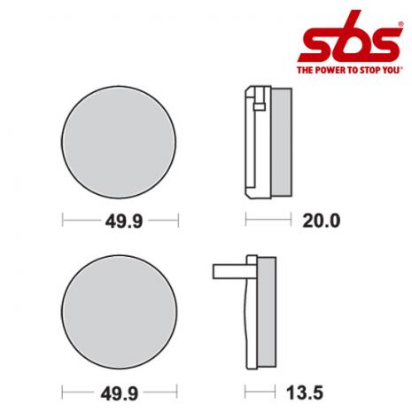 SBS 502 Brake Pad Kit