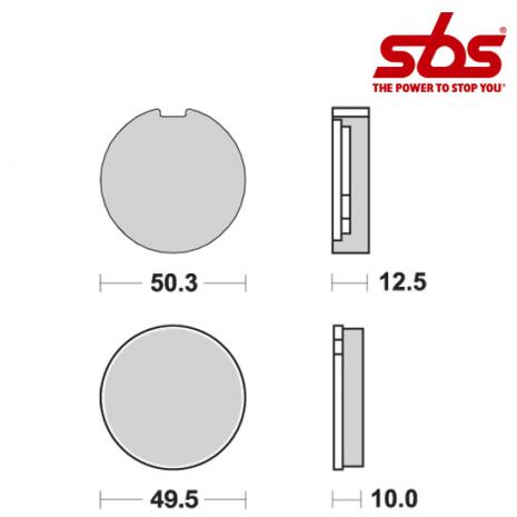 SBS 503 Brake Pad Kit