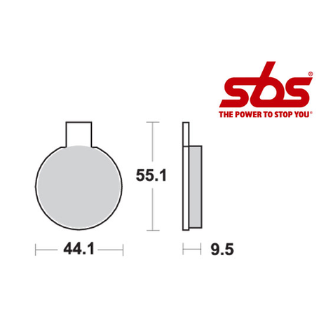 SBS 505 Brake Pad Kit
