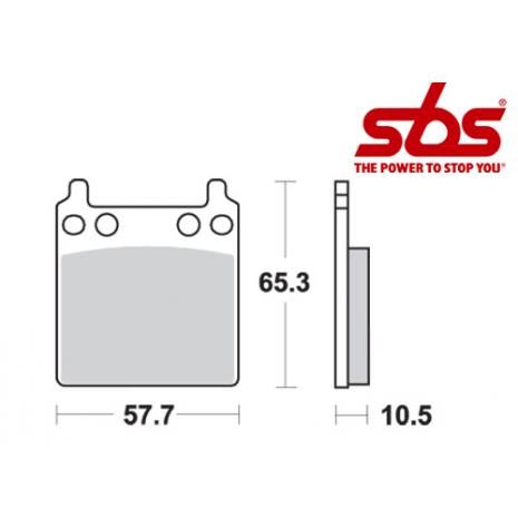 SBS 509 Brake Pad Kit