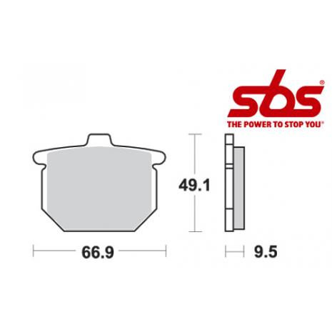 SBS 517 Brake Pad Kit