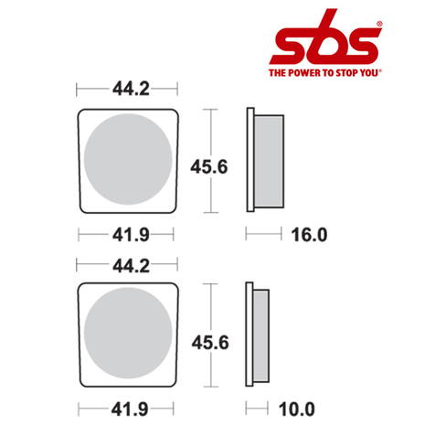 SBS 522 Brake Pad Kit
