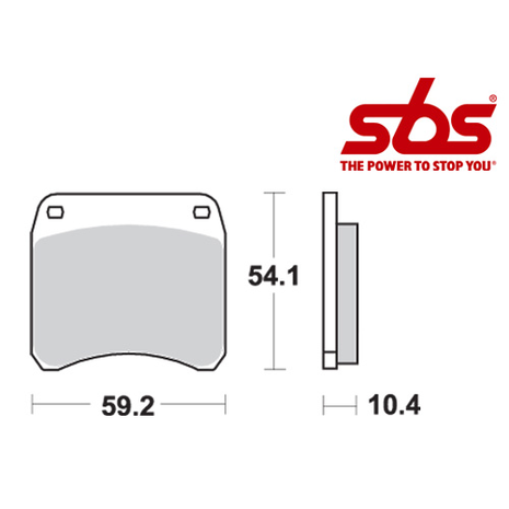 SBS 523 Brake Pad Kit
