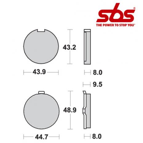 SBS 524 Brake Pad Kit