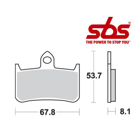 SBS 622 Brake Pad Kit