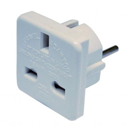 Euro UK Ac Mains Plug Adaptor