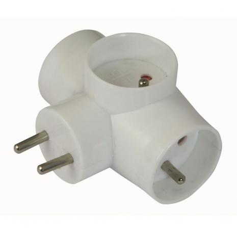 Euro AC Mains Plug Multi Adaptor