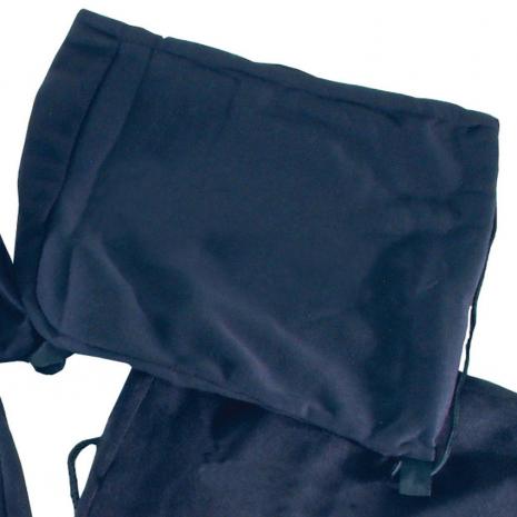 Drawstring Helmet Bag Plain Black
