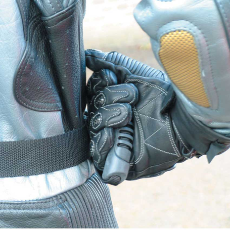 Motorcycle Pillion Grippers In Use