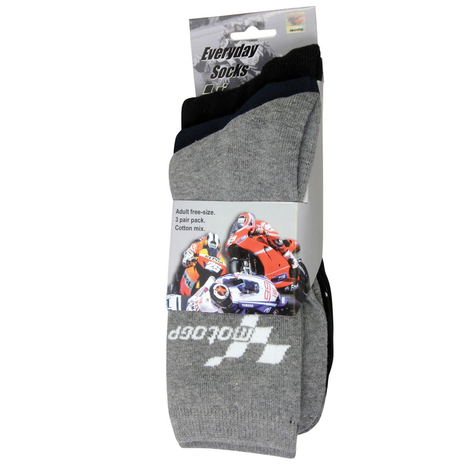 MotoGP Everyday Socks 3 Pair Multipack All Colours