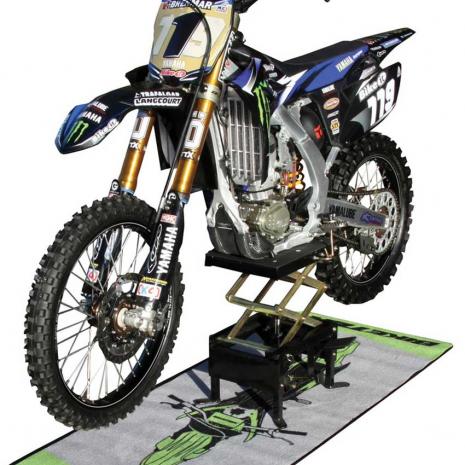 Motocross Scissor Lift In Use