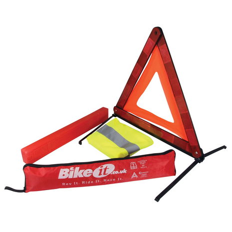 Emergency Roadside Warning Triangle Kit