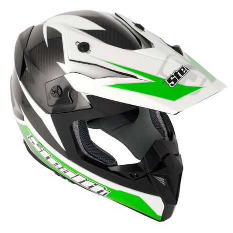 Stealth Helmet HD210 MX Carbon Stealth GP Replica - Green
