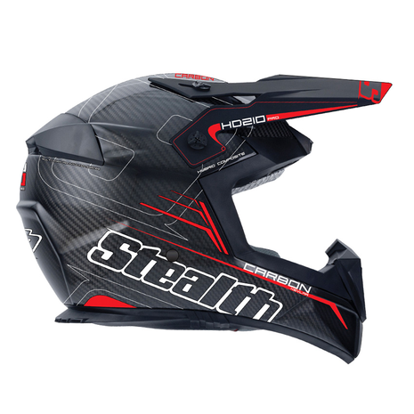 Stealth Pro Carbon Kevlar MX Helmet HD210 - Red