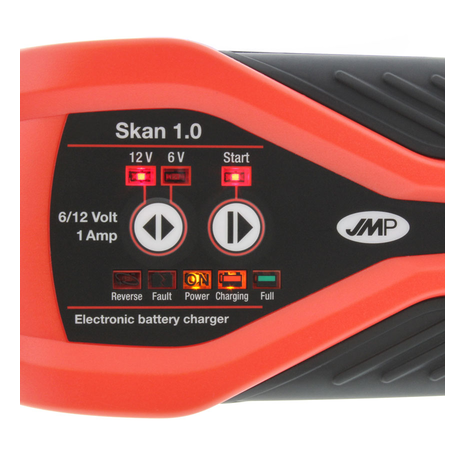 Battery Charger JMP SKAN 1.0 UK 6/12V 1.0A Lithium Compatible Full Screen