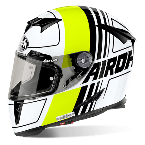 AIROH Helmet GP500 Full Face Motorcycle Helmet - Scrape Yellow Gloss