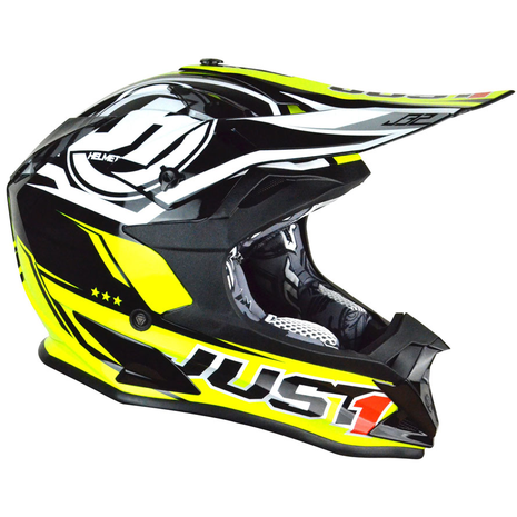 JUST1 J32 Rave Crash Helmet Neon Yellow
