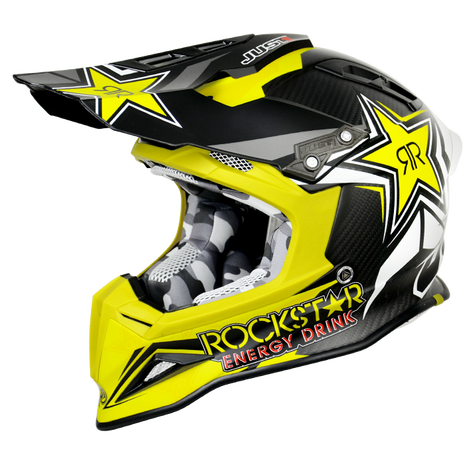 JUST1 MX Crash Helmet J12 Carbon - Rockstar 2.0