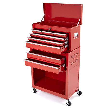 Rolling Tool Cabinet With Top Chest