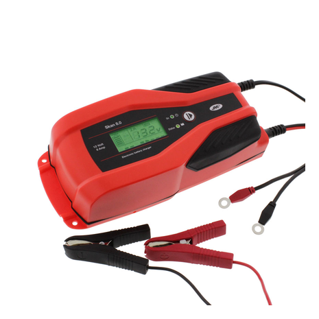 Battery Charger JMP Skan 8.0 12V 8A Lithium & Supply Mode For Diagnostics Full Kit