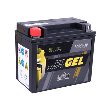 intAct YTX12-BS / 51012 Gel Bike-Power Battery