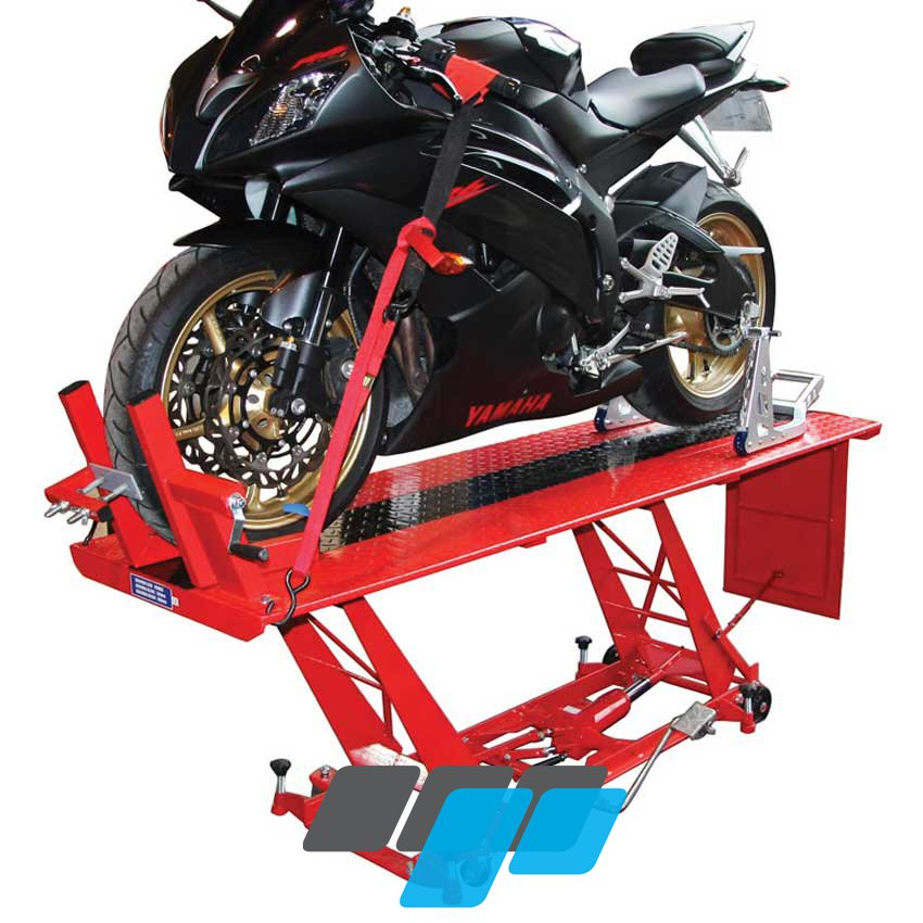Hydraulic Table Lift Kits : Hydraulic motorcycle workshop table lift