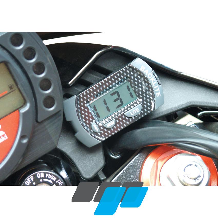 Compact Motorcycle Digital Lcd Clock